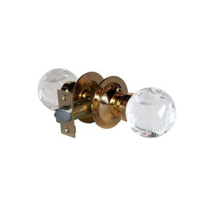 Abc Clear Crystal Brass Passive Door Knob with LED Mixing Lighting Touch Activated