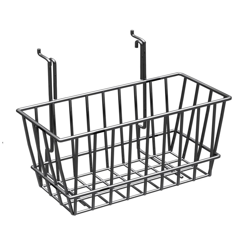6 in. H x 12 in. W Small Chrome Wire Basket