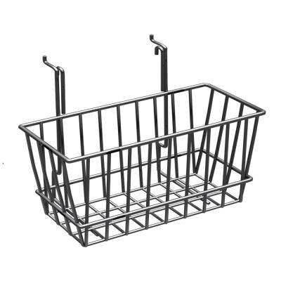 6 in. H x 12 in. W Small Chrome Wire Basket (2-Pack)