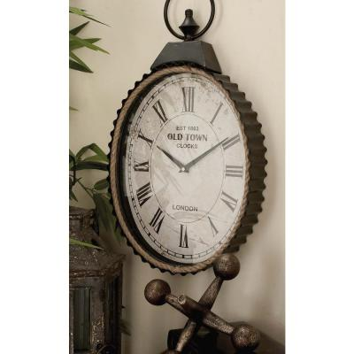 Vintage White Rustic Analog Wall Clock