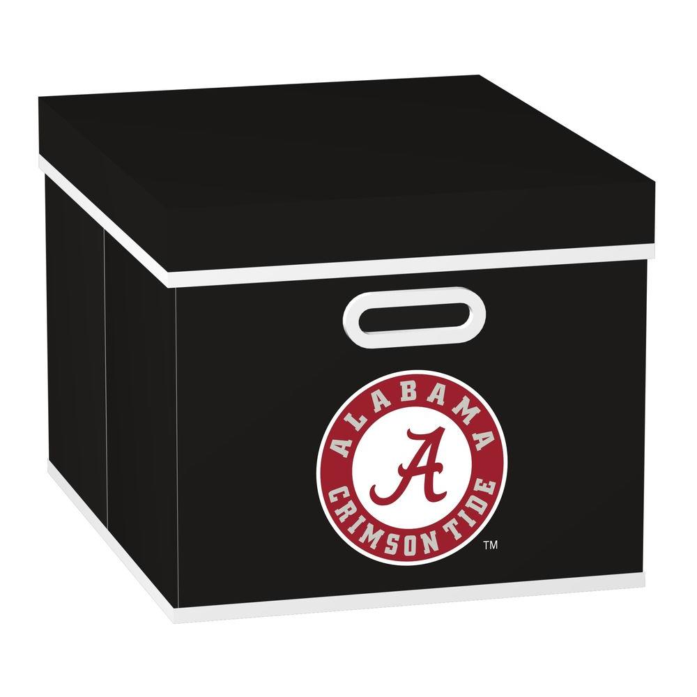 MyOwnersBox College STACKITS University of Alabama 12 in. x 10 in. x 15 in. Stackable Black Fabric Storage Cube