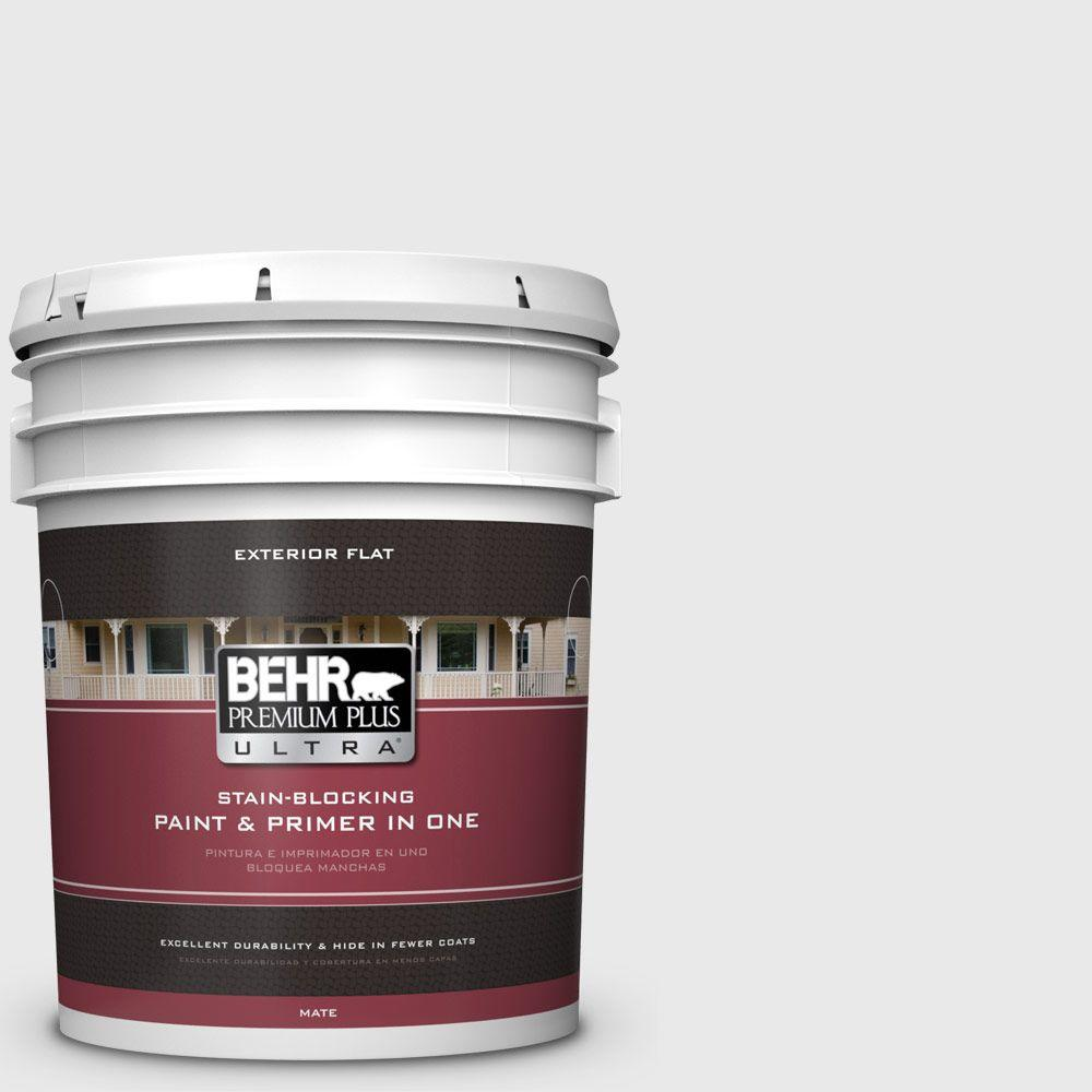 BEHR Premium Plus Ultra 5-gal. #PWN-44 Bay Breeze Flat Exterior Paint