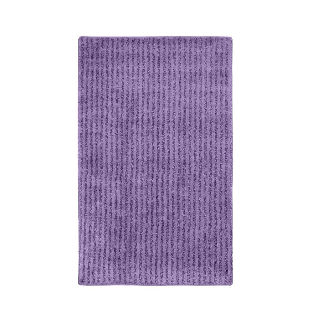 Garland rug sheridan purple 30 in x 50 in washable for Rugs with purple accents