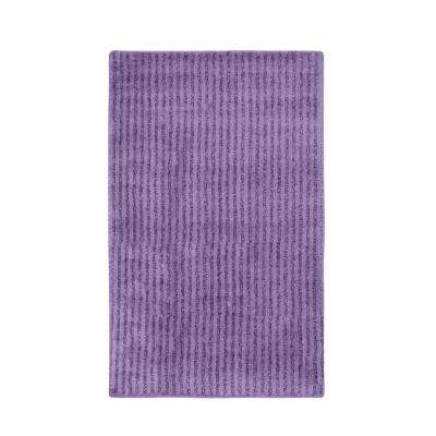 Sheridan Purple 30 in. x 50 in. Washable Bathroom Accent Rug