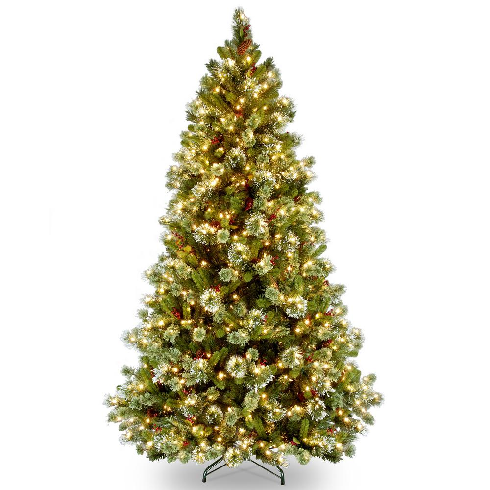 national tree company 65 ft wintry pine medium artificial christmas tree with clear lights
