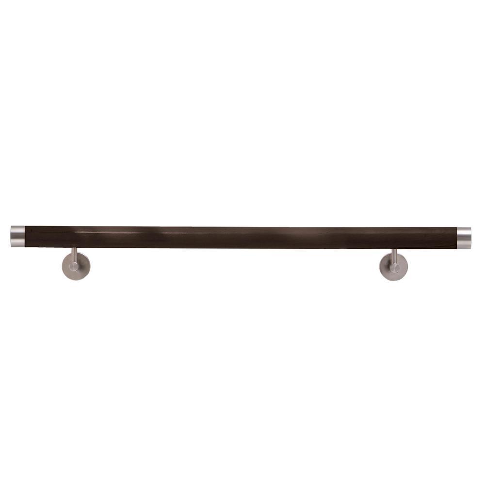 Iam Design Wood Inox 10 Ft Wenge Wood Hand Rail Kit