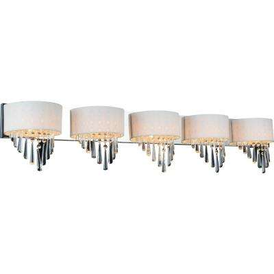 Burney 5-Light Chrome Sconce