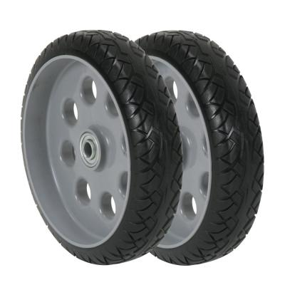 10 in. x 2.5 in. Flat-Free Replacement Wheels for Hand Trucks (2-Pack)