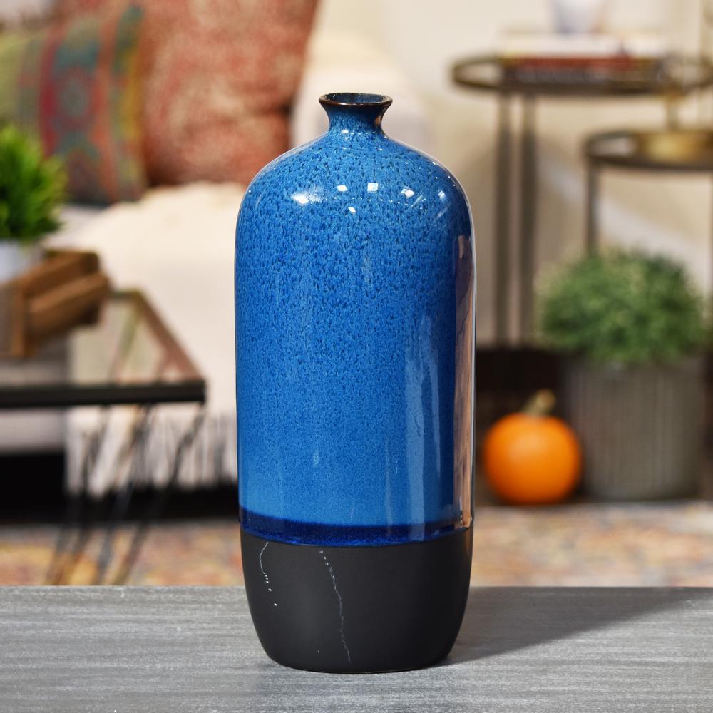 Blue Gloss Stoneware Decorative Vase