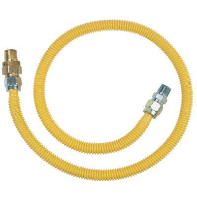 1/2 in. MIP x 1/2 in. MIP x 48 in. Gas Connector (5/8 in. OD) w/Safety+Plus2 Thermal Excess Flow Valve (106,000 BTU)