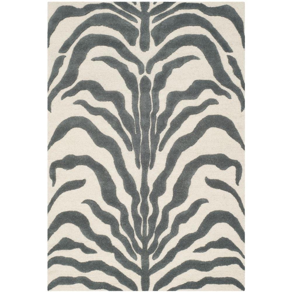 Cambridge Ivory/Dark Gray 4 ft. x 6 ft. Area Rug