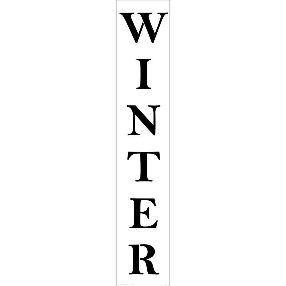 Designer Stencils Winter Tall Sign Stencil