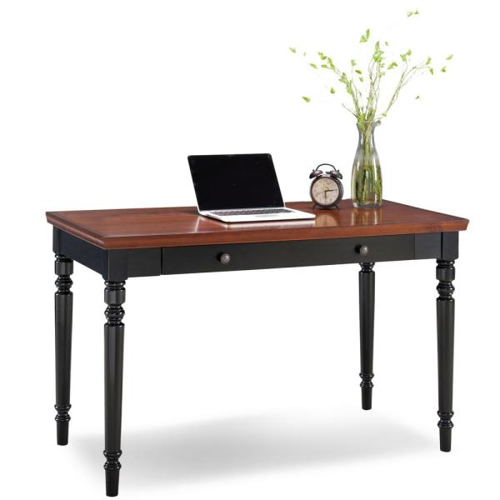 Leick Furniture Farmhouse Turned Leg Black 2 Tone Laptop Desk With