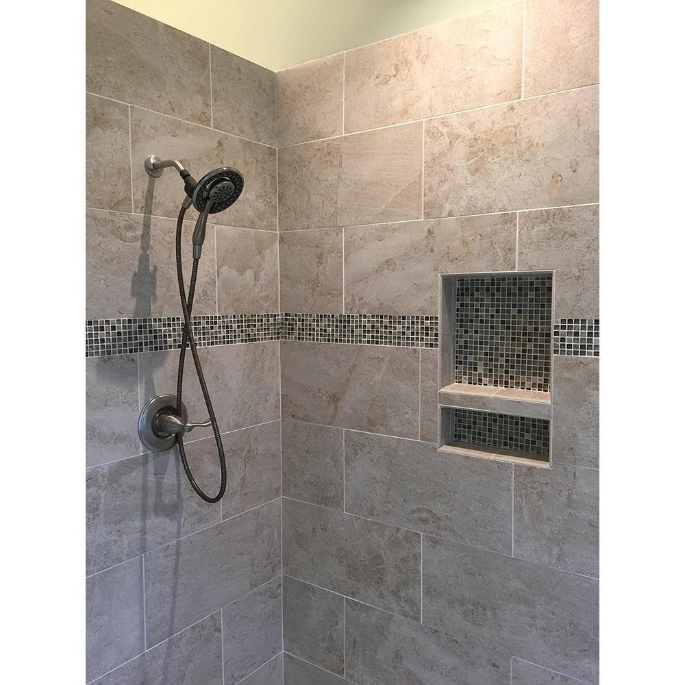 Single Shelf Bathroom Recessed Shower Niche Shampoo