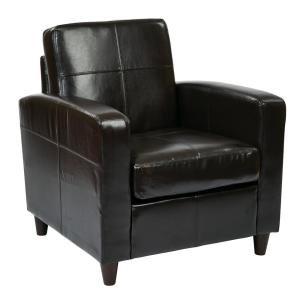 Ave Six Venus Espresso Club Chair by Ave Six