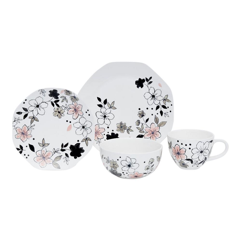 Barb 16-Piece Ceramic Dinnerware Set