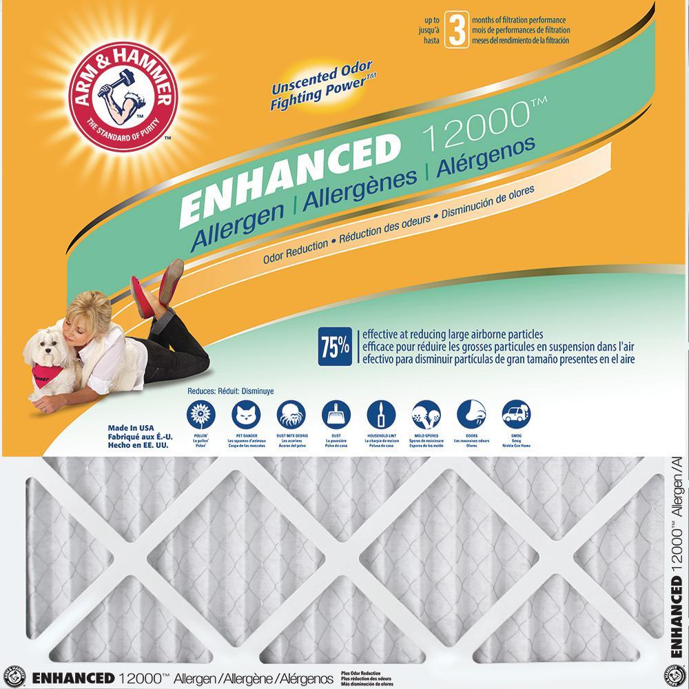 4-Pack Arm & Hammer Allergen and Odor Control FPR 6 Air Filter