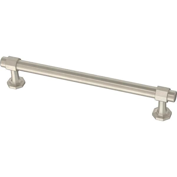 Classic Octagon 6-5/16 in. (160 mm) Satin Nickel Drawer Pull
