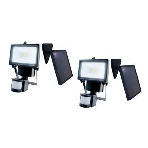Nature Power Black Outdoor Solar Motion Sensing Security Light with Advance LED Technology, (2-Pack) by Nature Power