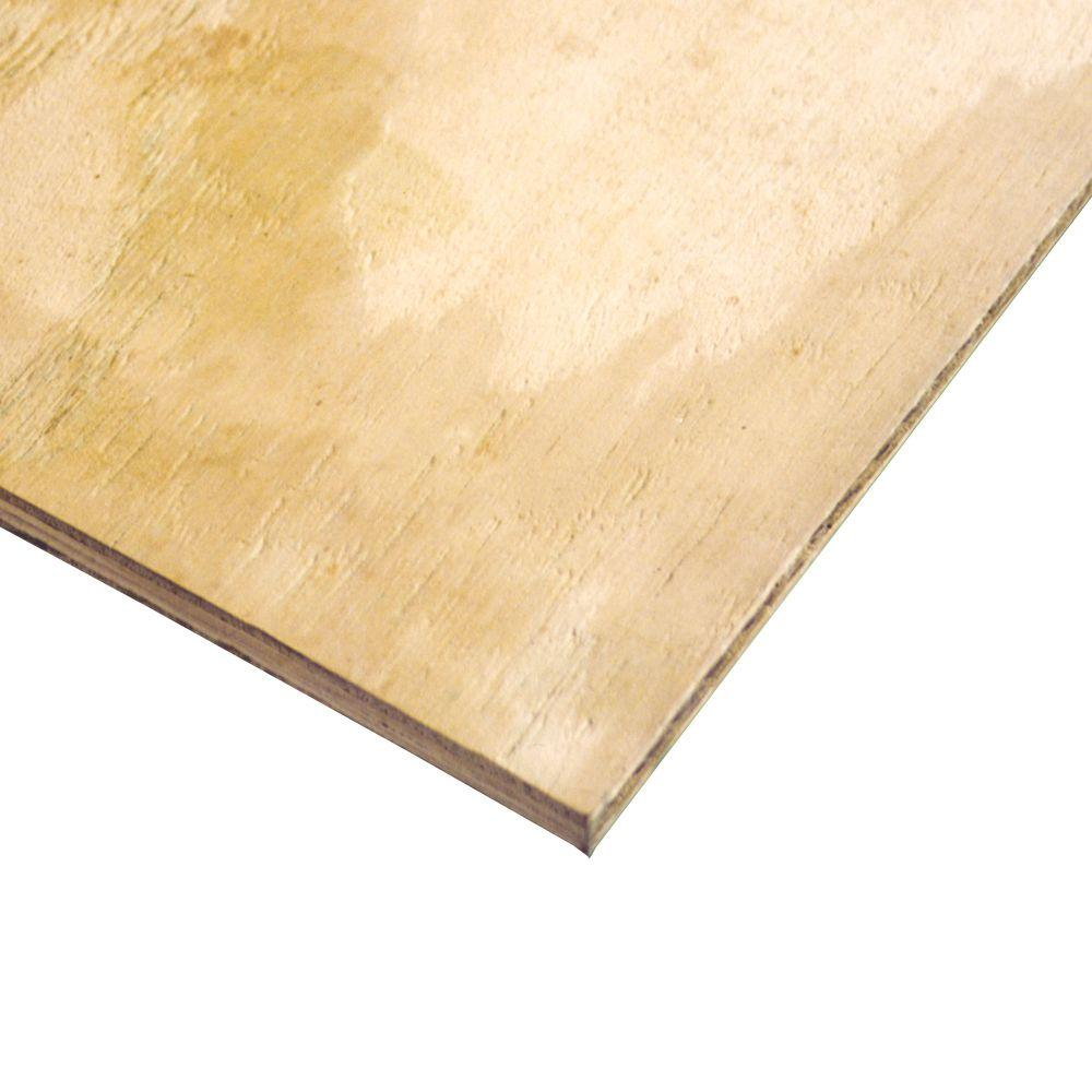 1 2 In X 4 Ft X 8 Ft Pine Plywood 1062 The Home Depot