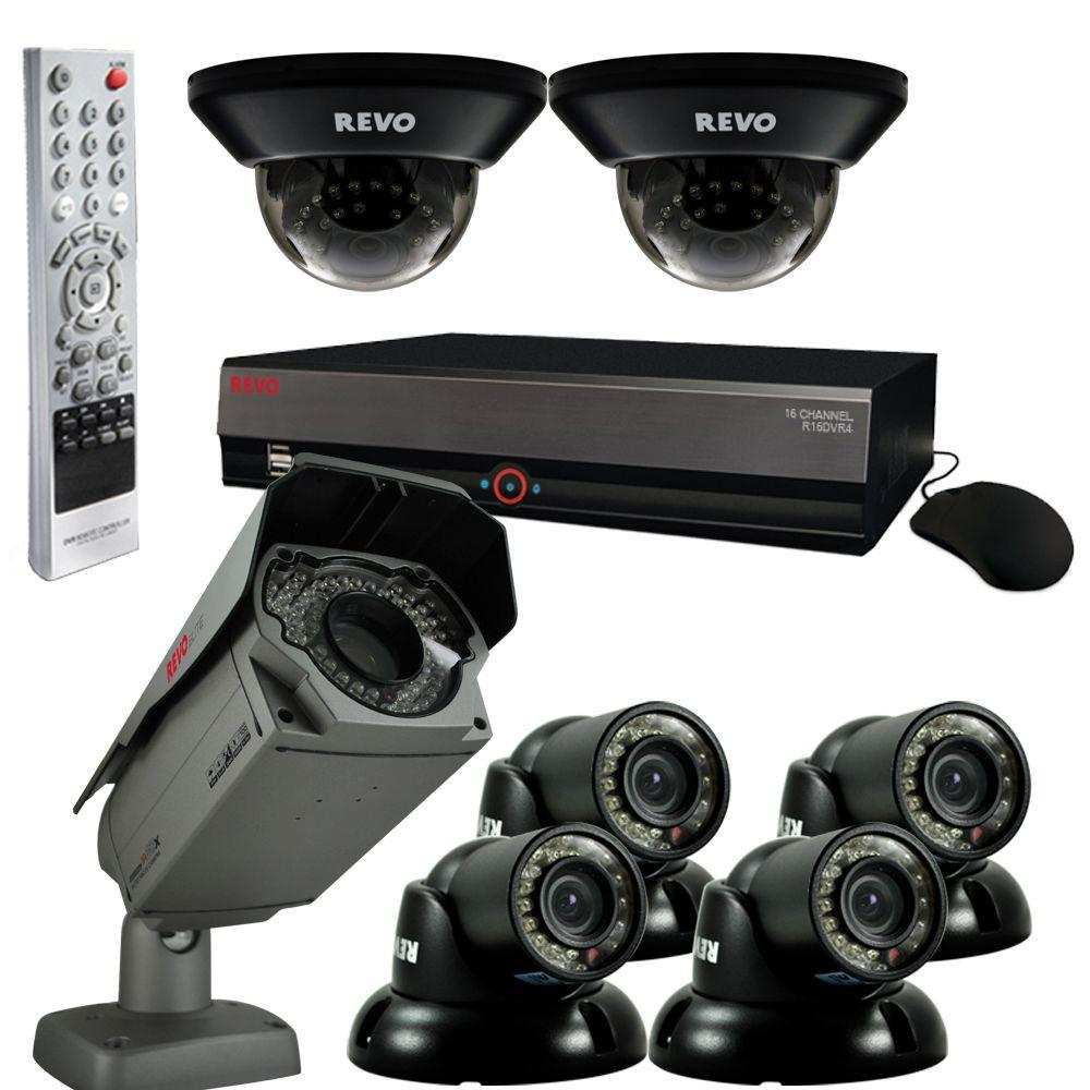Revo Elite 16 CH 4TB Surveillance System with 6 Quick Connect Cameras and 1 Elite Camera-DISCONTINUED