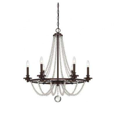 Kevin 6-Light Mohican Bronze Chandelier