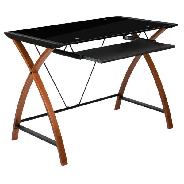 Carnegy Avenue 1-Piece Black Computer Desk CGA-NAN-270354-BL-HD