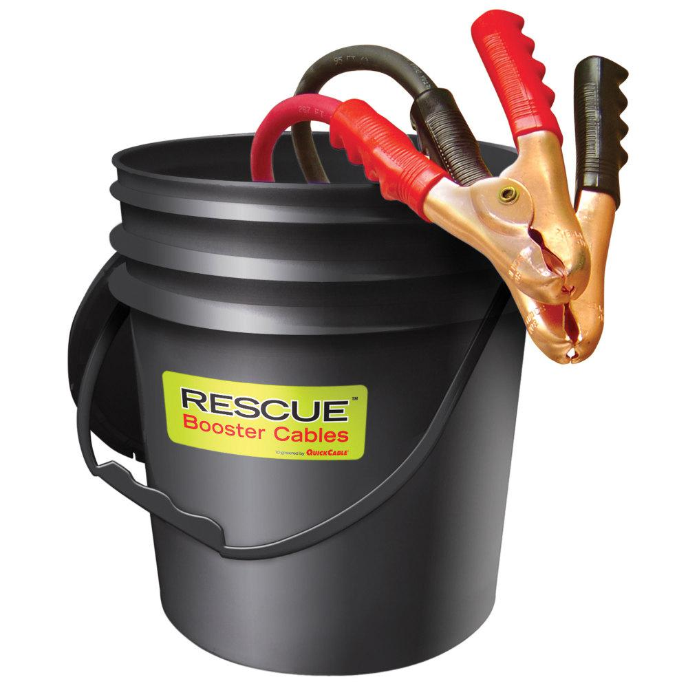 Quickcable 2 0 Gauge 25 Ft Booster Cables In Pail 602400 The Home Depot