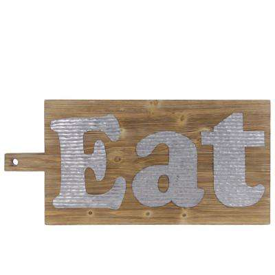 "15.00 in. x 33.00 in. ""Eat"" Printed Wall Art"