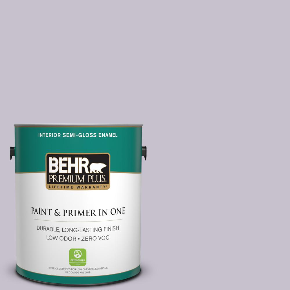BEHR Premium Plus 1-gal. #660E-3 Foxgloves Zero VOC Semi-Gloss Enamel Interior Paint