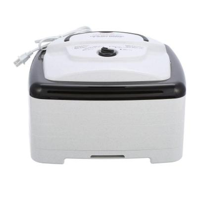 Square 4-Tray White Food Dehydrator and Jerky Maker