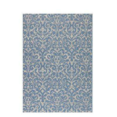 Bermuda Blue/Champagne 8 ft. 6 in. x 13 ft. Area Rug