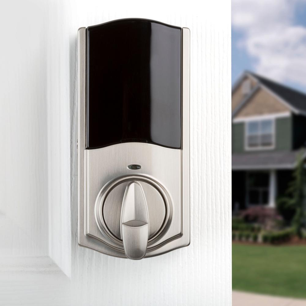 Kevo Convert Smart Lock Satin Nickel Conversion Kit Featuring Bluetooth Technology