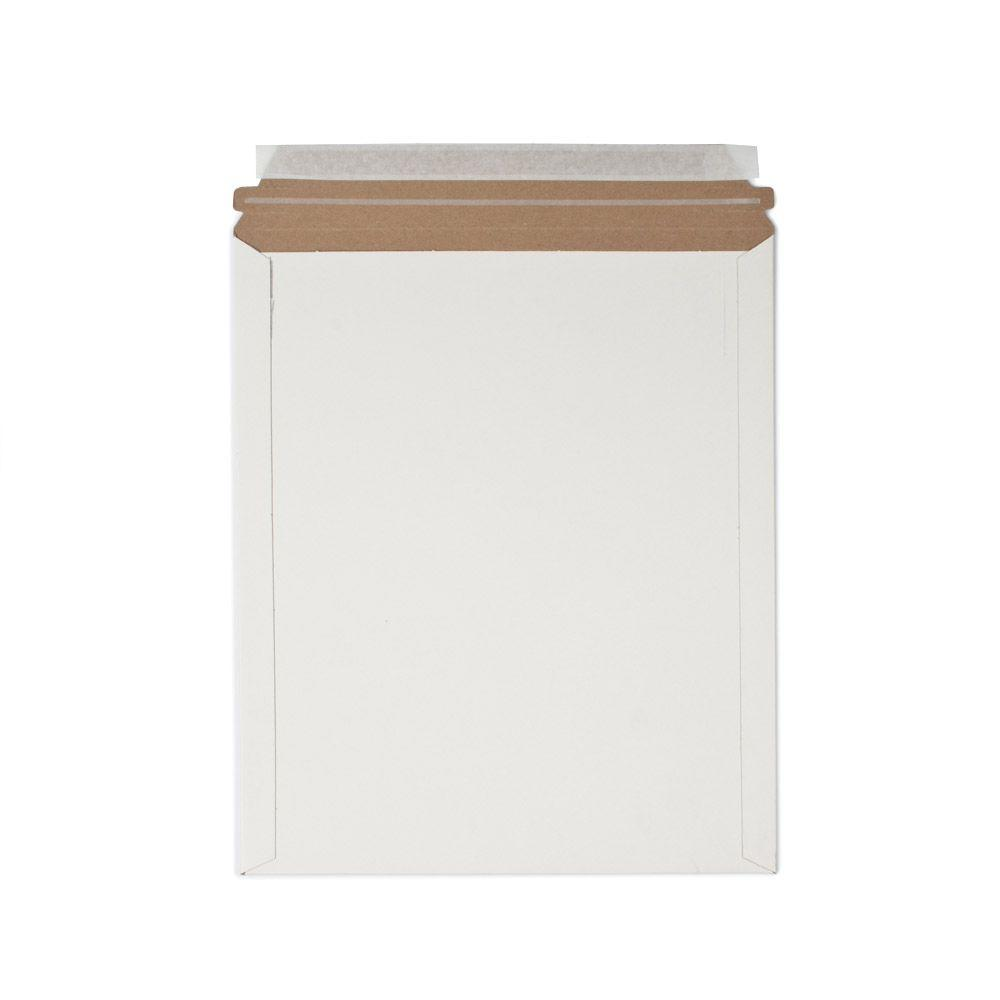 11 in. x 13.5 in. White Paperboard Stay Flat Mailers with