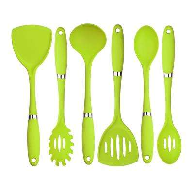 6-Piece Nylon Utensil Set in Green