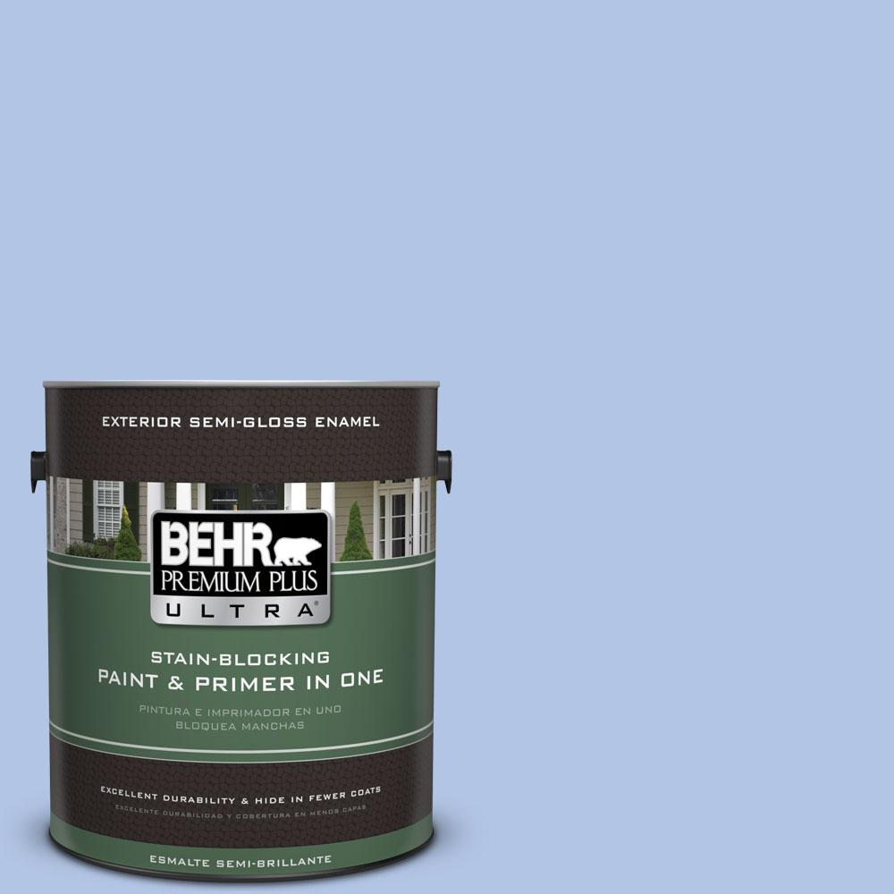 BEHR Premium Plus Ultra 1-gal. #590A-3 Beautiful Dream Semi-Gloss Enamel Exterior Paint