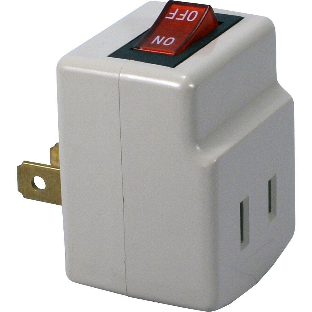 QVS Single-Port Power Adapter with On/Off Switch-PA-1P - The Home Depot