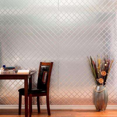 96 in. x 48 in. Quilted Decorative Wall Panel in Smoked Pewter