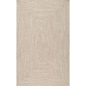 Lefebvre Casual Braided Tan 12 ft. x 18 ft. Indoor/Outdoor Area Rug