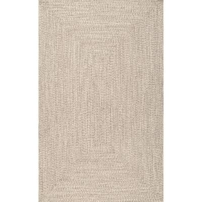 Lefebvre Casual Braided Tan 4 ft. x 6 ft. Indoor/Outdoor Area Rug