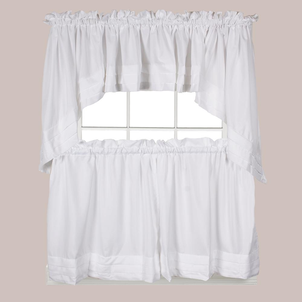 Polyester Swag Valance In White
