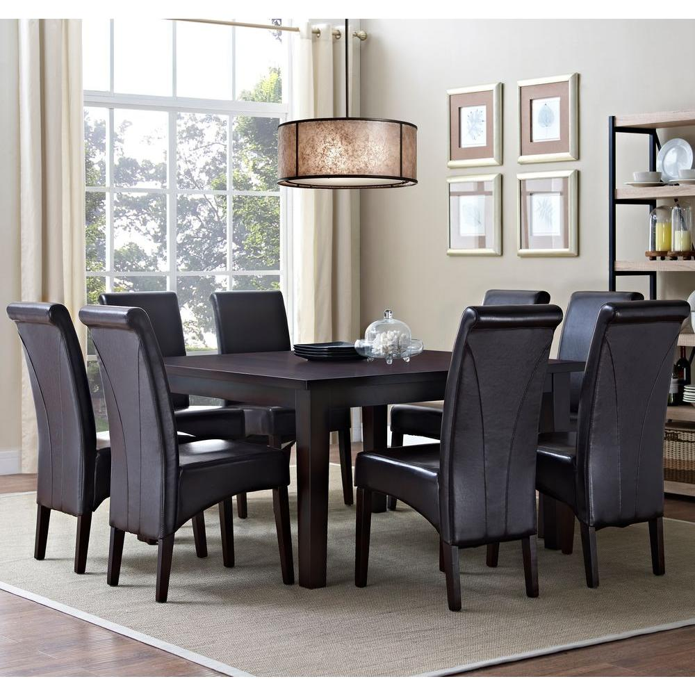 Avalon 9 Piece Tanners Brown Dining Set