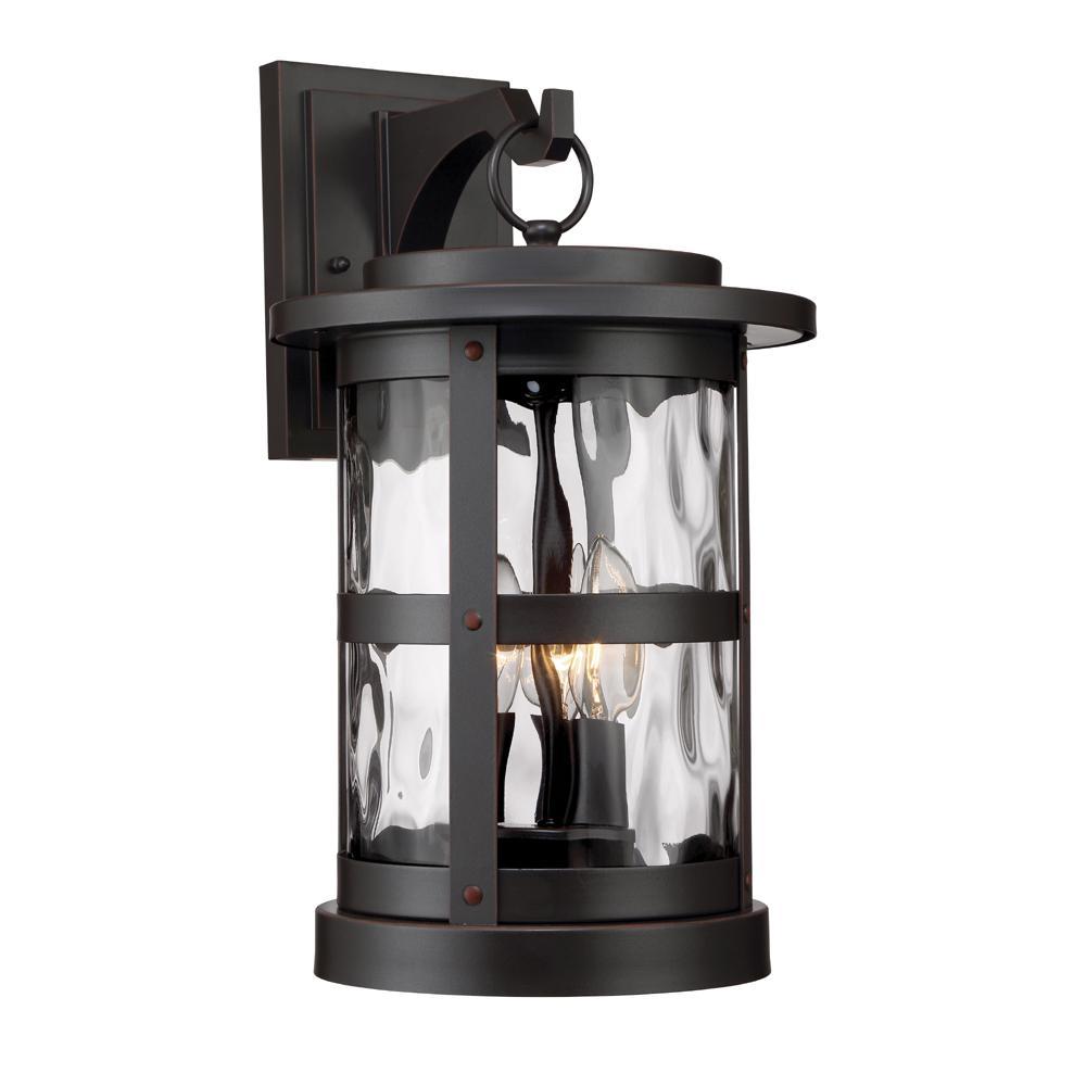 Terraze 3-Light Satin Bronze Outdoor Wall Lantern Sconce
