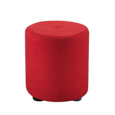 Excellent Round Red Ottomans Living Room Furniture The Home Depot Pabps2019 Chair Design Images Pabps2019Com