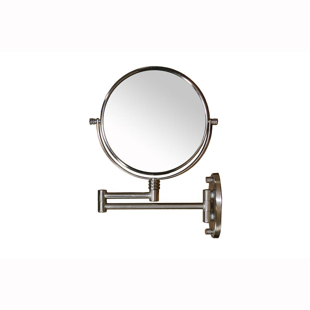 ORE International 1.5 in. x 13.5 in. Extendable Round X5 Magnify Makeup Mirror