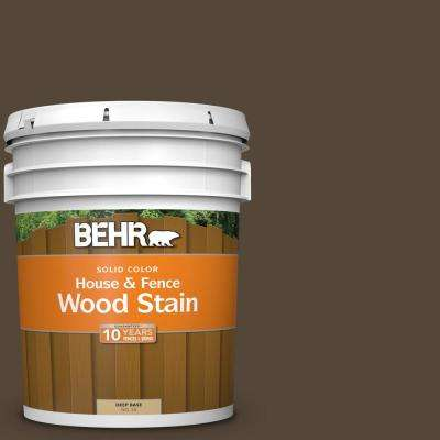 5 gal. #780B-7 Bison Brown Solid Color House and Fence Exterior Wood Stain