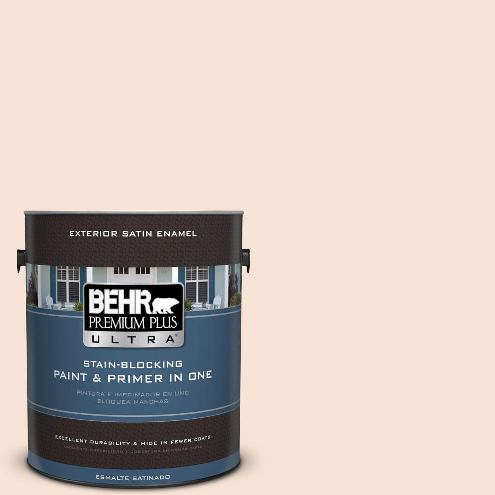 BEHR Premium Plus Ultra 1-gal. #RD-W13 Almond Kiss Satin Enamel Exterior Paint