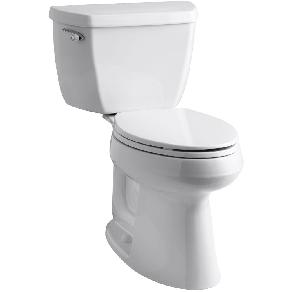 KOHLER Highline Classic the Complete Solution 2-Piece 1.28 GPF Single Flush Elongated Toilet in White, Seat Included