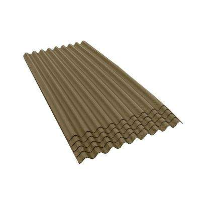 6 ft. 7 in. x 3 ft. Asphalt Corrugated Roof Panel in Tan (5-Pack)