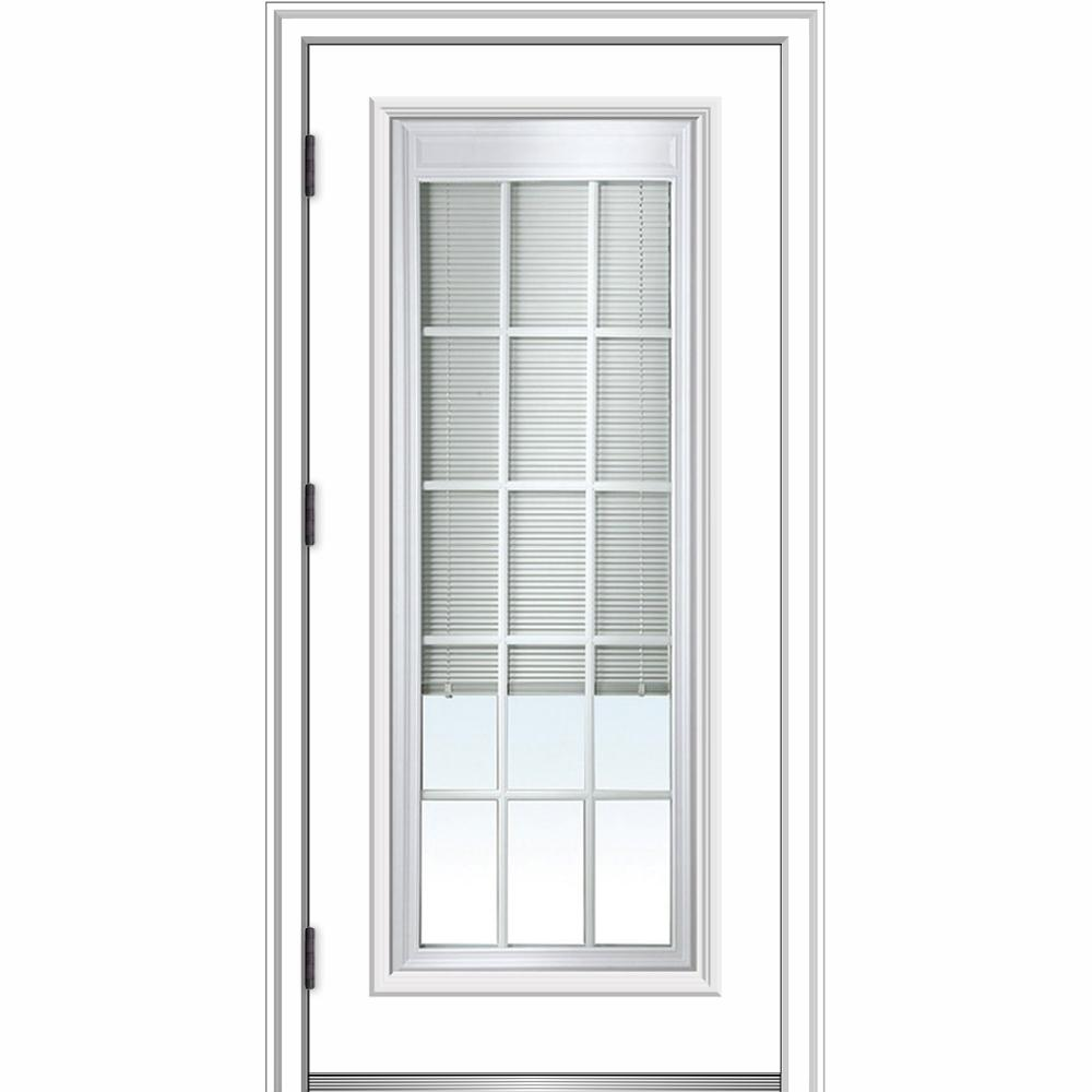 32 in. x 80 in. Internal Blinds and Grilles Right-Hand Outswing